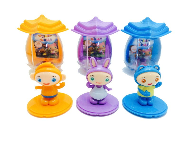 hot selling China soft candy toy factory plastic surprise Waybuloo cartoon house egg 24pcs