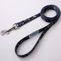 outdoor running new fashion black chain dog leash polyester material