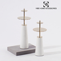 China supplier marble glass candle holder for decoration