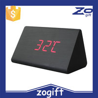 ZOGIFT Fashion Desk Digital LED Wood Clock Vintage Table Wooden funny Alarm Clock