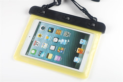 7-8 inch Swimming Waterproof Case Bag Waterproof Tablet pouch dry bag for ipad mini 2 with Neck Strip