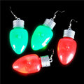 Christmas Novelty Light up Bulb Earrings