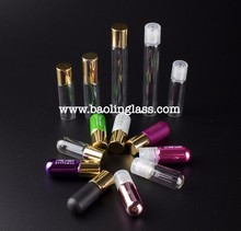 4ml 6ml 8ml 10ml amber frosted cosmetic empty glass perfume roll on bottle