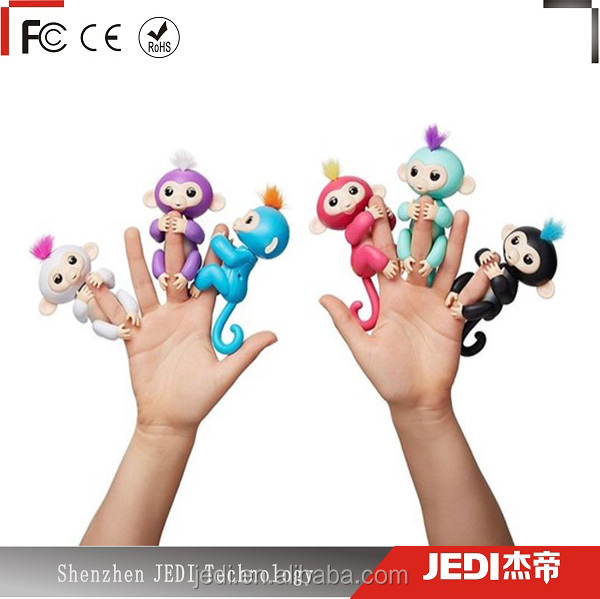 Authentic WowWee Fingerlings colorful monkey boy toys monkey finger Monkey Interactive Toy_G028
