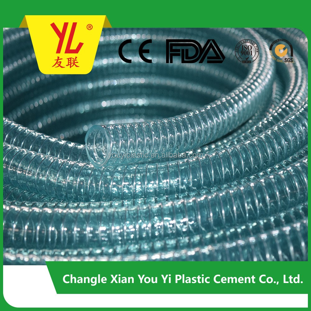 Hot sell China export flexible Transparent steel wire Vinyl hose