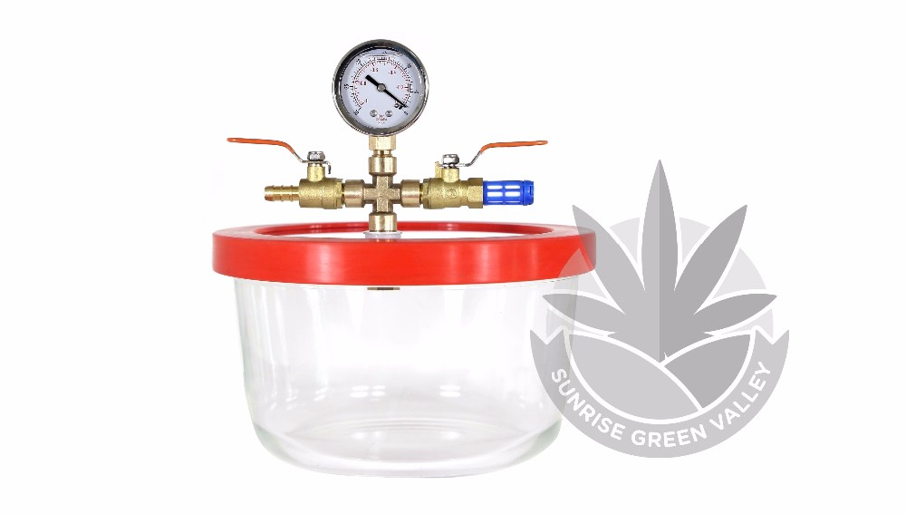 Vacuum & Degassing Chamber Pyrex 1.7/3 Quart BHO Extraction Purge