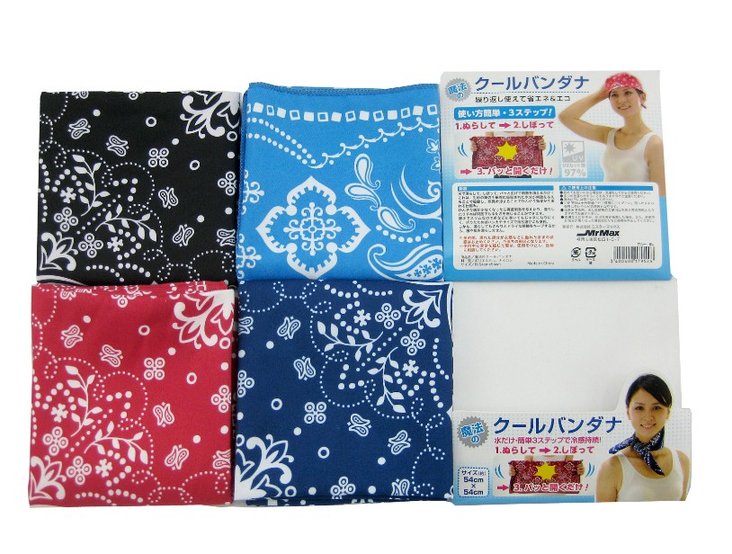 Fashion Cooling Scarves Cooling Neckerchiefs Cooling Neck Bandanas