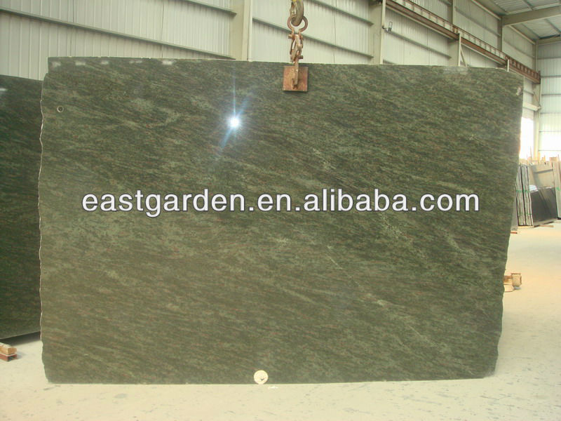 Tropical Green Brazil granite slab