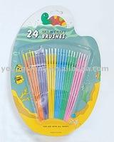 24pcs Art & Craft Brushes