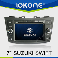 "factory 7"" HD Touch screen suzuki swift car player with bluetooth TMC, camera, mic, dvb-t"