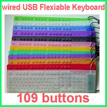 Silicone Flexible Keyboard 109 keys, Foldable Keyboard, silicone keyboard