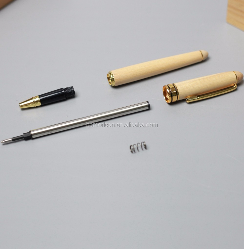 wooden ball point pen with metal part set packing in wooden box for promotional