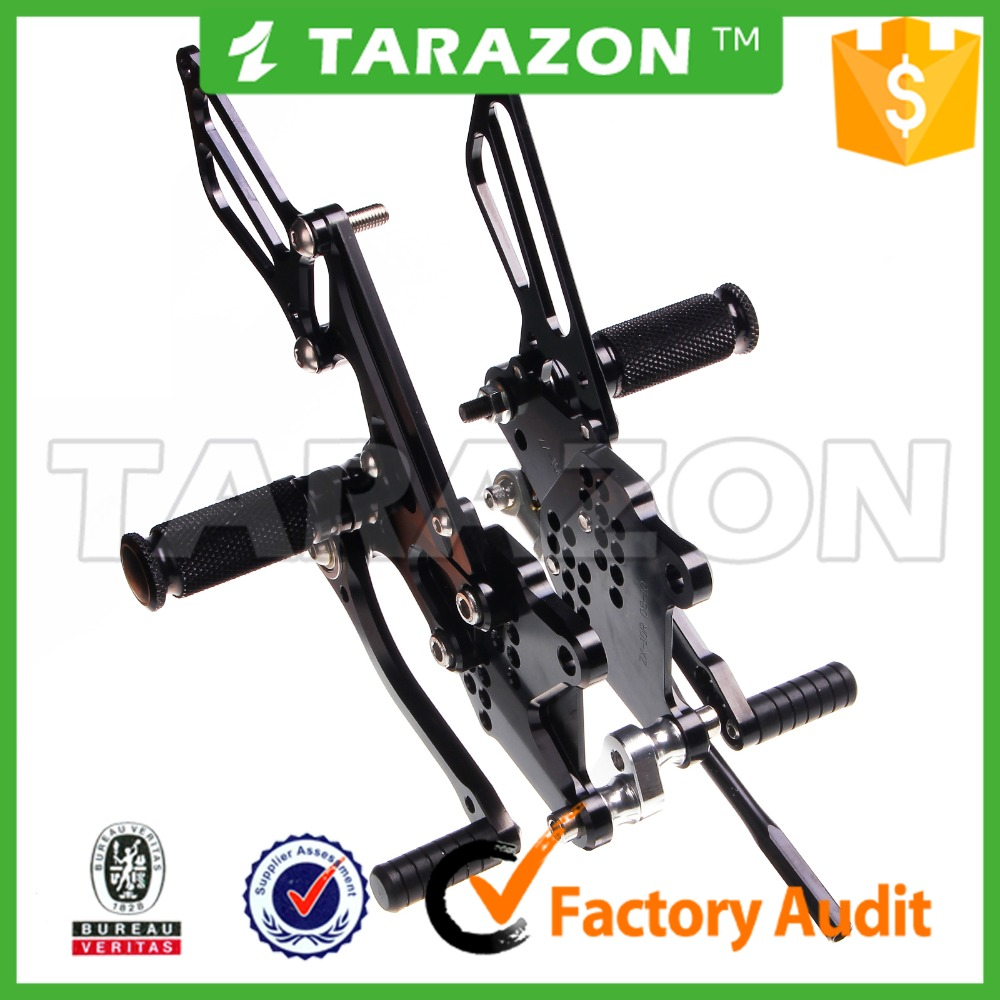 TARAZON CNC motorcycle rear sets for sport bikes for Kawasaki ZX10R parts
