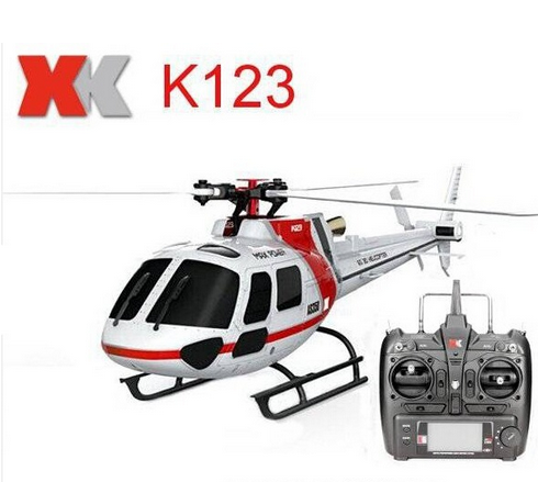 Original XK K123 6CH Super Brushless AS350 Scale 3D 6G System RC Helicopter with Camera Upgrade WLtoys V931