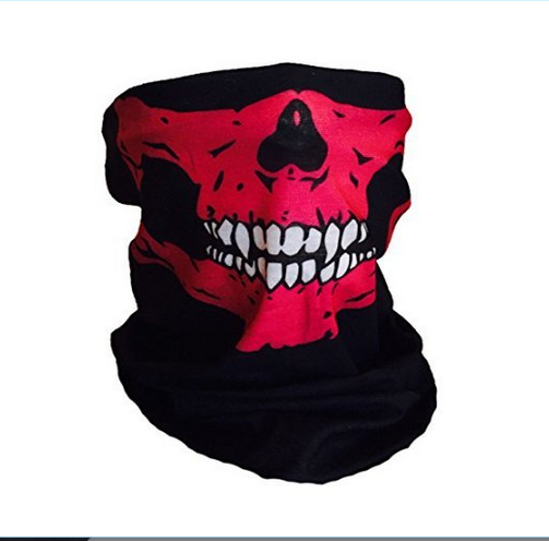 wholesale custom logo Halloween Skull Mask Snowboard Ski Multifunctional seamless Pink White Fangs Face Mask Tube Balaclava