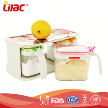 Promotional wholesale high quality kitchen durable 3 pcs clear empty glass spice jar set