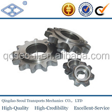 DIN 8187 ISO/R 606 5/8''*3/8'' pitch 12.7 roller 8.51 carton steel 10b-1 simplex roller chain 44T tapered bore sprocket