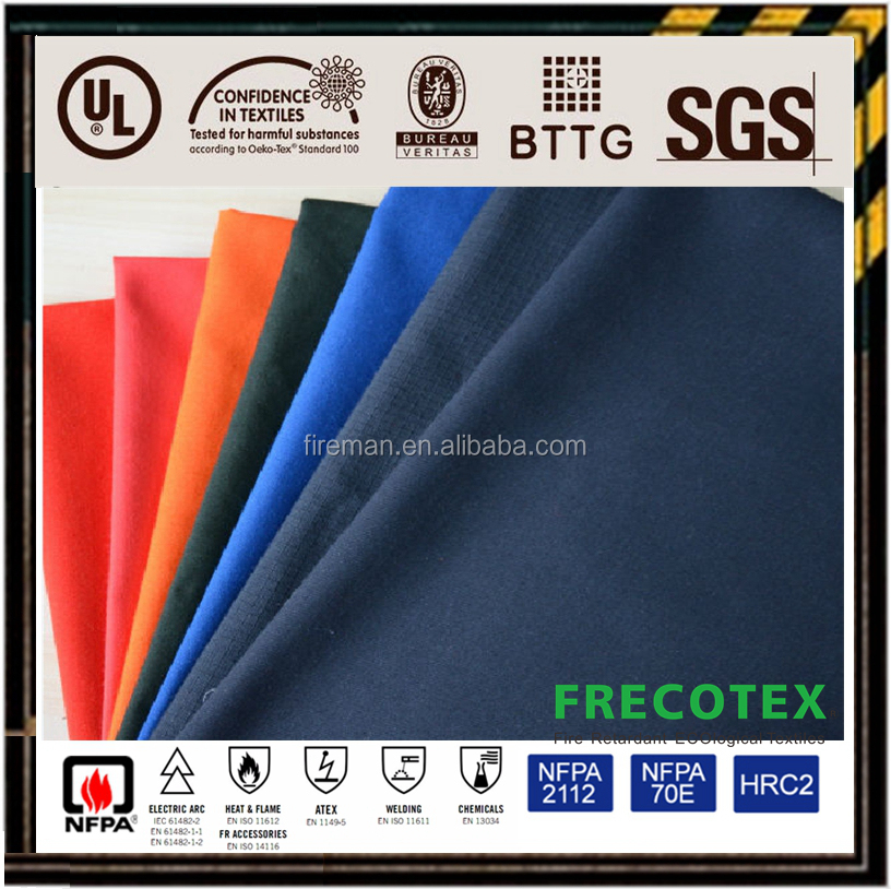 Nomex 150gsm aramid 93/5/2 flame retardant fabric for protective FR clothing