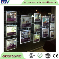 Suspended acrylic advertising magnetic crystal led light panel for real estate agents