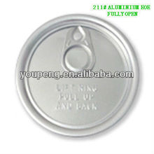 211(65mm) aluminum recoverable cans ring pull tab