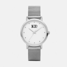 Diamond Stones Face Silver Women Lady Stainless Steel Mesh Watch