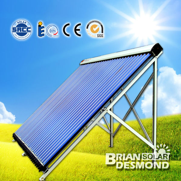 Heat pipe solar collector for project water heating solar energy system hot solar collector