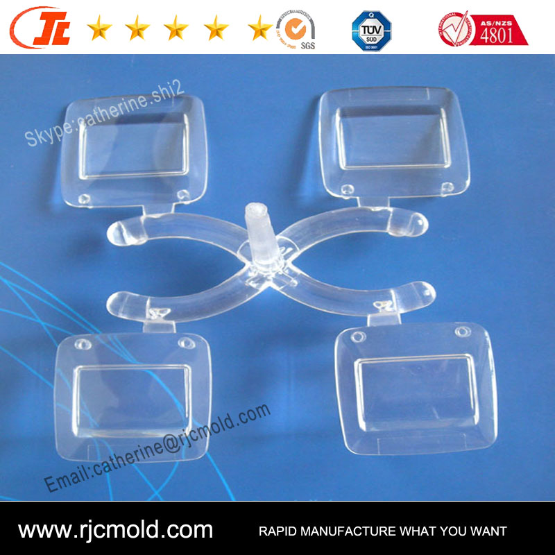 Injection molded keypad parts of small Clear parts made by PMMA,PC material parts of plastic injection mold