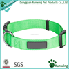 wholesale Classic Solid Basic Polyester plain Nylon Dog Collar in custom colors