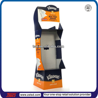 Retail high strength tissue cardboard floor display stand