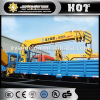 10 tons cargo crane truck 6*4 dongfeng truck mounted with xcmg crane sq10sk3q