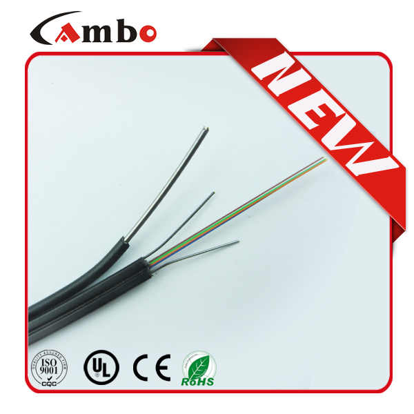 Factory Indoor & Outdoor 1 core 2 core drop wire FTTH drop cable G657A/G657A2 FRP LSZH