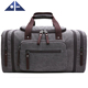 High Quality Unisex Canvas Travel Gym Duffel Bag Weekend Bag With Strap