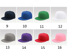 Custom Different Colors Blank Snapback Hat Flat Peaked Design Your Own Logo Cap