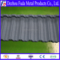 Color stone Coated decorative roof tiles