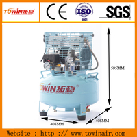 low db air compressor for nuclear magnetic resonance (nmr)