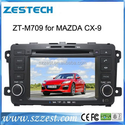 Zestech manufacturer car dvd gps for Mazda CX-9 Car audio with bluetooth dvd gps navigation