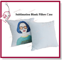 Cheap white polyester velvet cloth blank pillow case cushion cover for sublimation printing