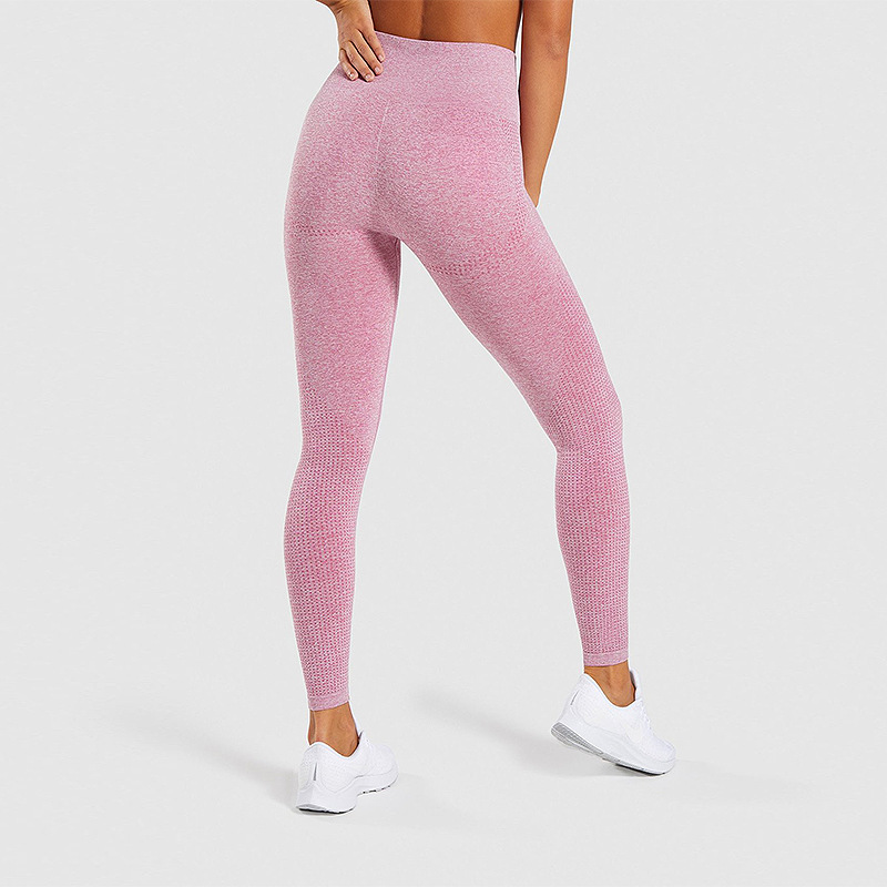 Europe and the United States hot sale seamless knitting hips moisture wicking yoga pants sports fitness pants sexy hips leggings