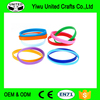 Assorted Solid Colors Silicone Wristbands Wrist Bands Rubber Bracelets