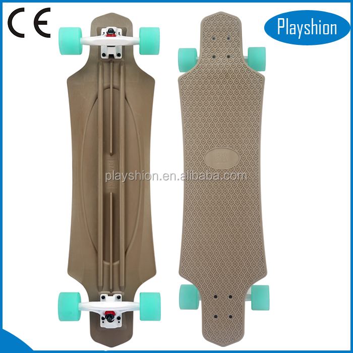 High quality Summer hot sale 36 inch plastic skate board fiberglass skateboard