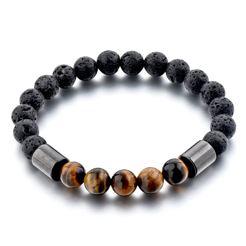 Hot selling 7 color chakra beads beaded two layer lava stone bracelet ,chakra bracelet for women and men