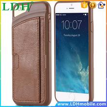 6 Color Retail High Quality PU Leather Cell Phone Case For Apple iPhone 6 6S 4.7 Ultra Thin Protective Back Cover RCD