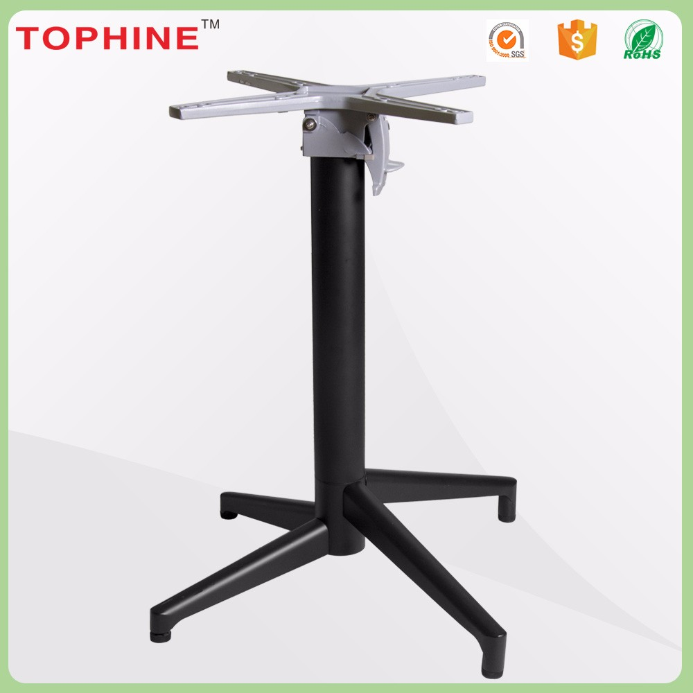 Adjustable legs outdoor furniture parts folding table base for sale