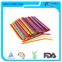 High quality plastic flexible drinking straw