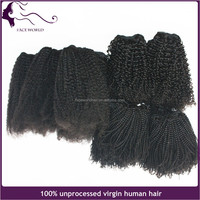 Best virgin hair vendors wholesale 4c kinky curly human hair sew in weave virgin raw unprocessed peruvian hair extension