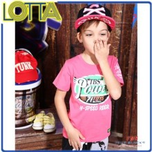 OEM high quality kids wear latest boys natural fashion summer t-shirts wholesale