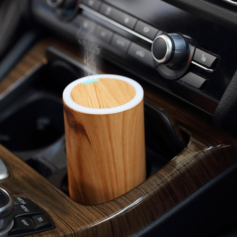 New 2017 USB car essential oil diffuser with wood <strong>grain</strong>