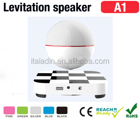 Bluetooth csr 4.0 round ball led levitation magnetic suspension bluetooth floating speaker preferred stock