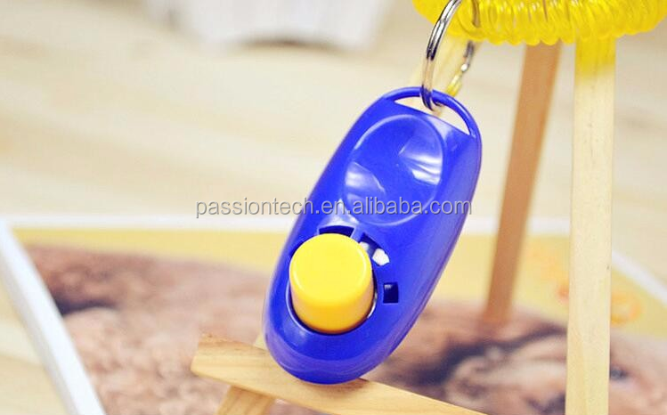 2017 Manual dog cat brids application obedience colorful clicker for training use