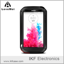 China supplier lovemei drop resistant aluminum metal rugged armor mobile phone case for LG G3 D855 D830 VS985